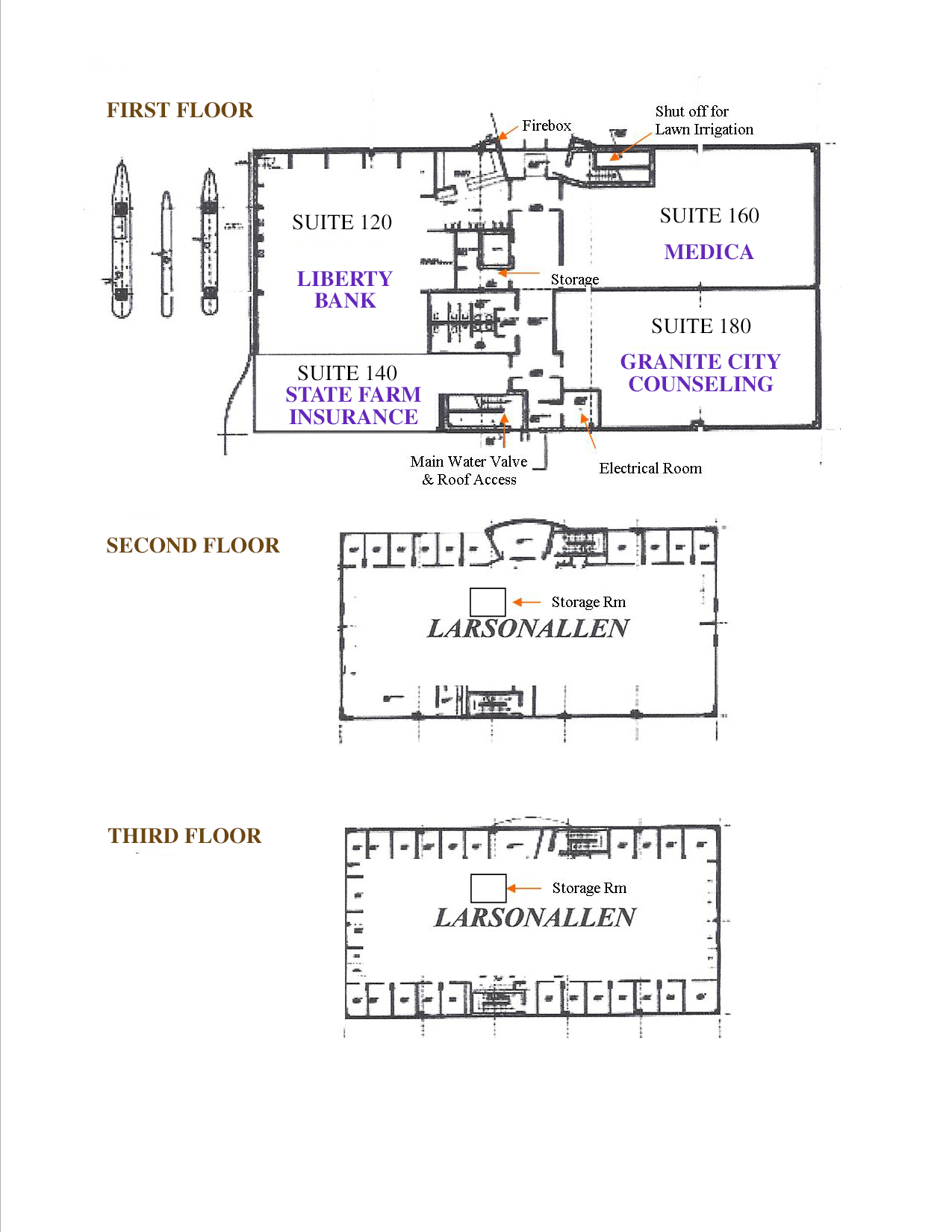 2nd street corporate center miller properties investments for Find floor plans by address